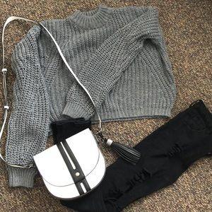 Box-style cropped sweater